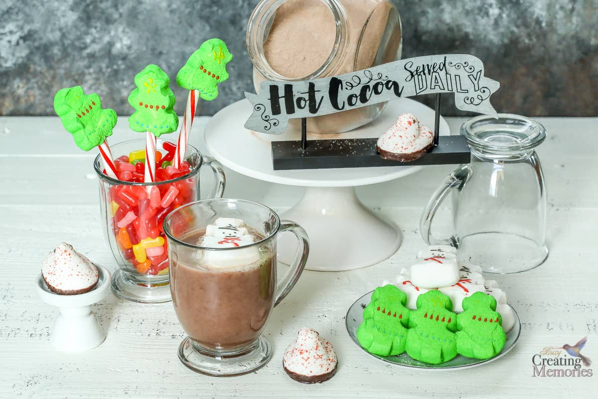 How to set up an Insanely Easy Hot Chocolate Bar Party for Kids
