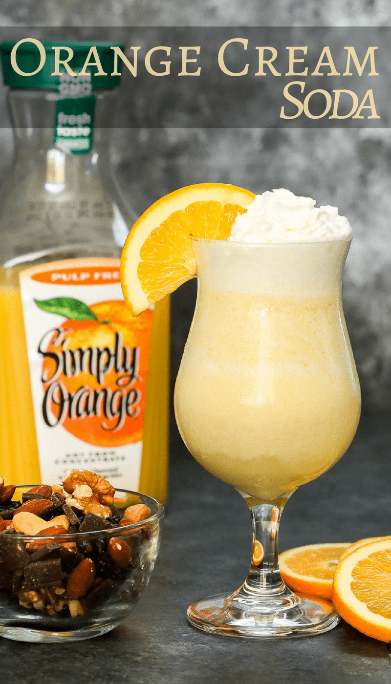 Give your mouth a shot of sunshine with this alcohol-free Orange creamsicle soda Mocktail drink recipe! Made with real Orange Juice and insanely easy to make a single serving or a large batch for a holiday party.