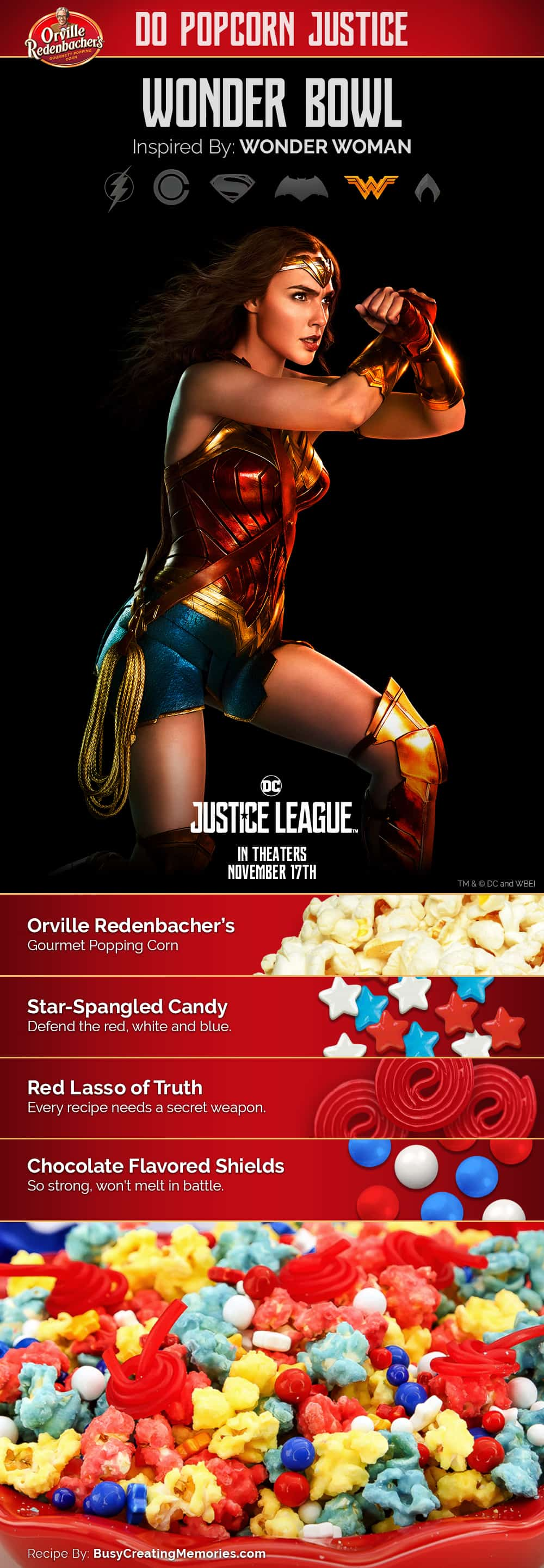Wonder Bowl Popcorn: Inspired by Wonder Woman