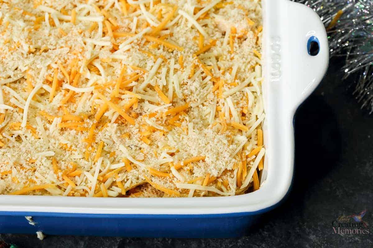Green Chile Chicken Enchilada Casserole Bake Recipe