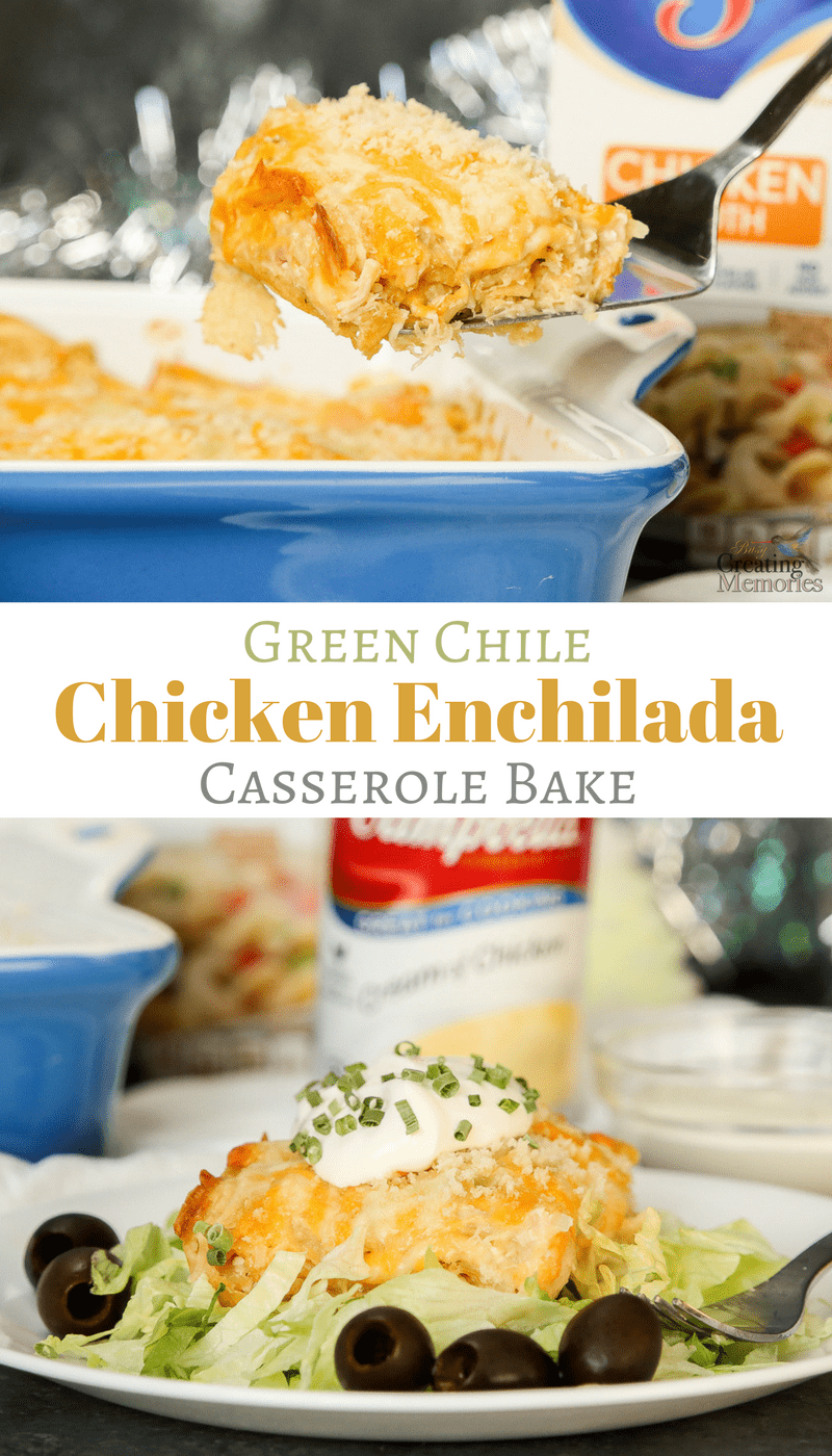 Make dinner easy with the best layered Green Chicken Enchilada Casserole recipe with a white & creamy cheesy sauce. All the great flavors of chicken enchiladas but less fuss! And can be made into a freezer meal. Pair with your favorite Mexican side dishes.