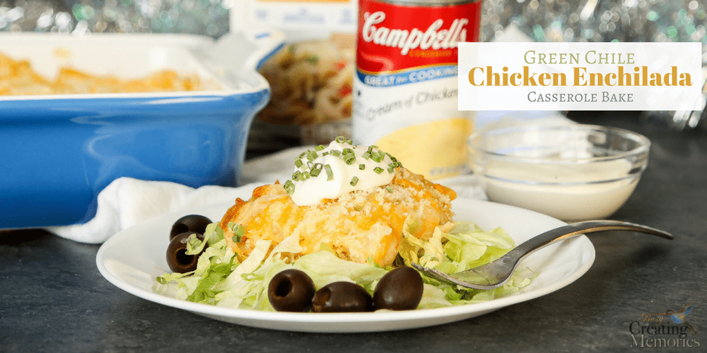 Green chile chicken enchilada casserole bake for an easy dinner green chile chicken enchilada casserole bake recipe forumfinder Image collections