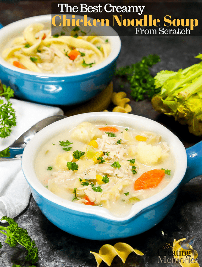Best Creamy Chicken Noodle Soup Recipe
