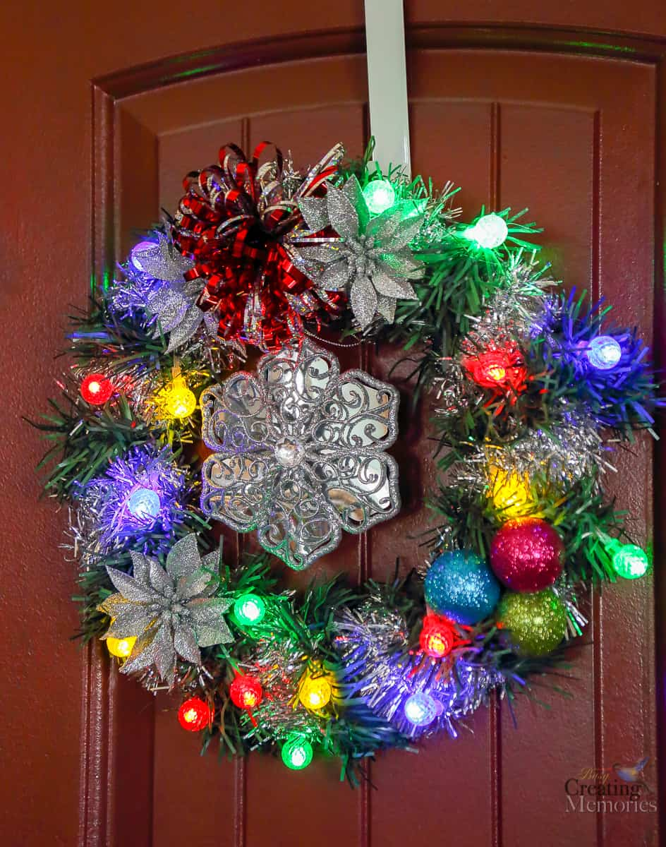 how to make an easy diy lighted christmas wreath for under 20 - Dollar General Christmas Decorations