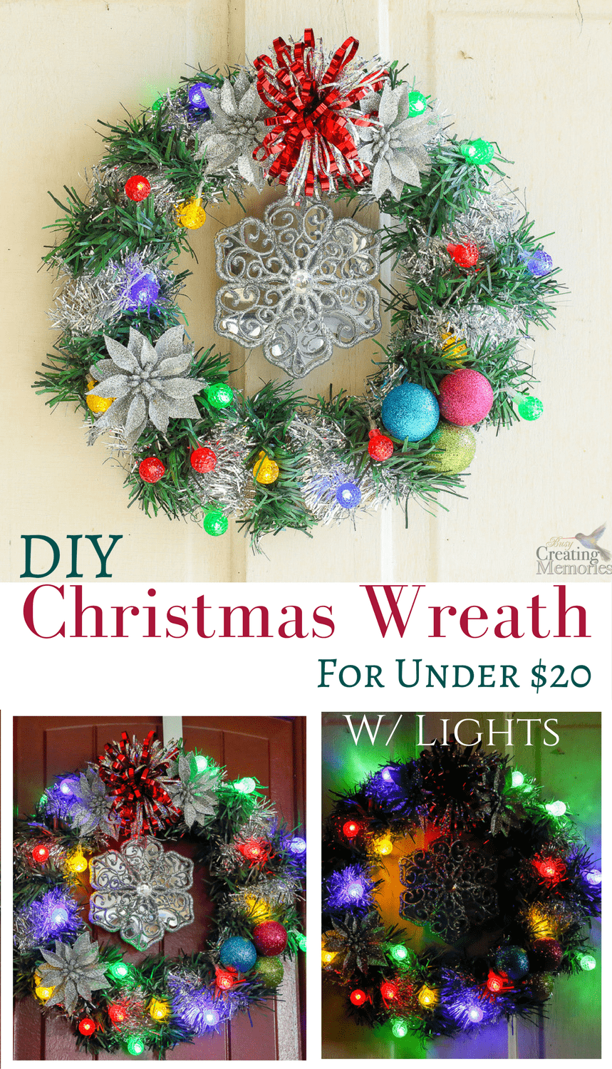 dont forget to pin this lighted christmas wreath for later