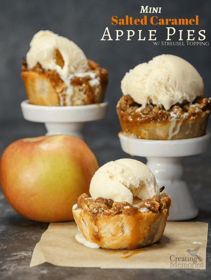 Mouthwatering Mini Salted Caramel Apple Pies