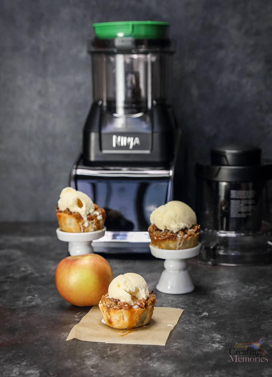 The Best Ever Mini Salted Caramel Apple Pies - in bite size servings!