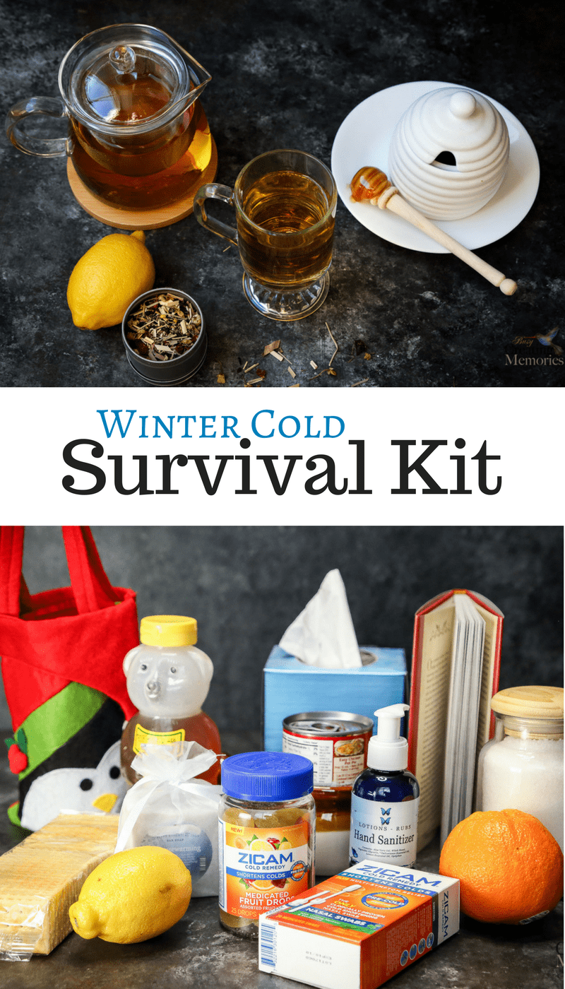 No one has time to be sick. So put together this easy Winter Cold survival kit gift to say Get Well Soon. A thoughtful care package to help get yourself or a best friend back to feeling better faster.