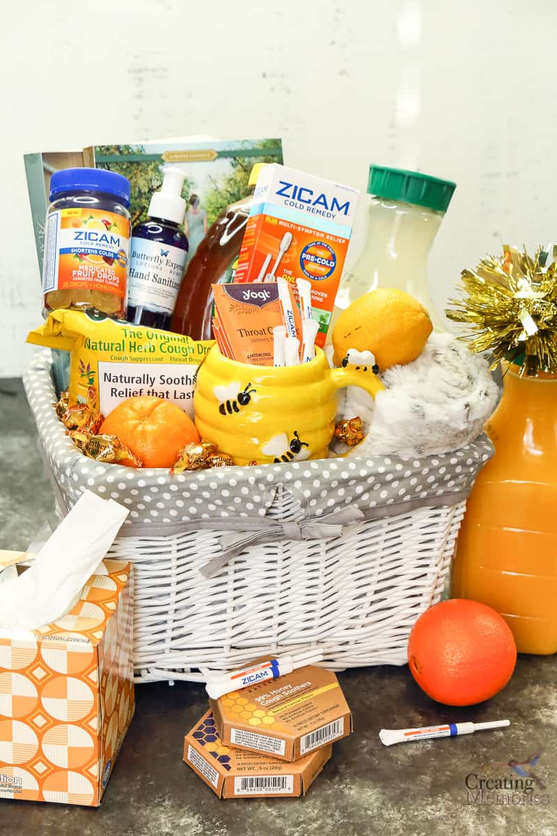 Easy DIY Ray of Sunshine Get Well Gift Basket for the common cold.