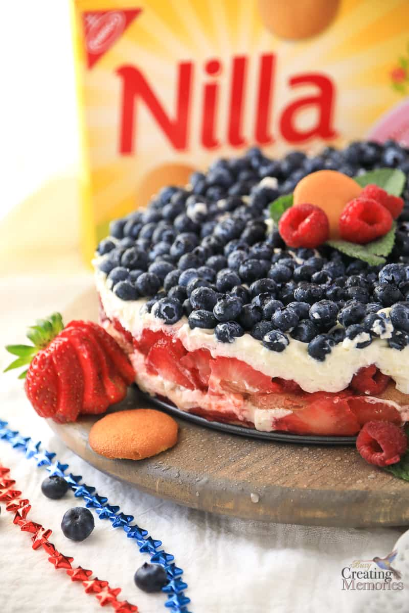Red White and BlueBerry Cheesecake Trifle Recipe