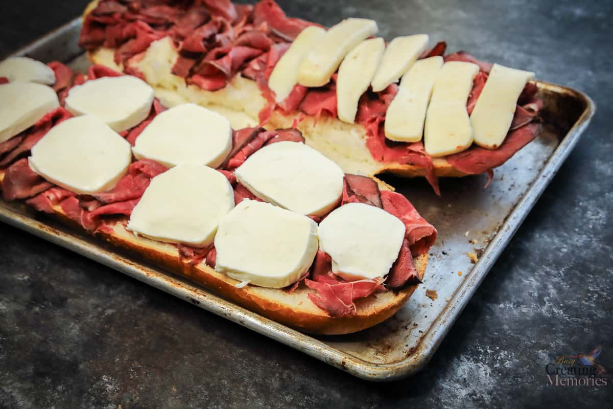 The Best Toasted Hot Roast Beef Caprese Sandwich Recipe