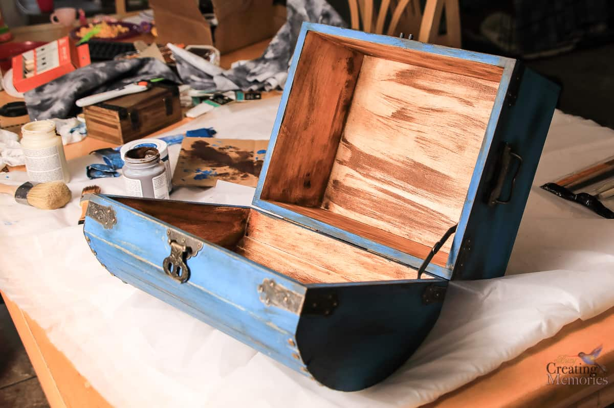 Easy DIY Kids Wooden Treasure Chest Box for treasured items