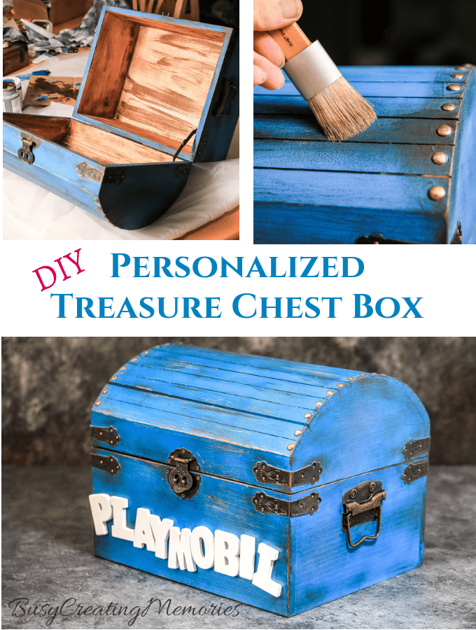 Easy DIY Kids Wooden Treasure Chest Box