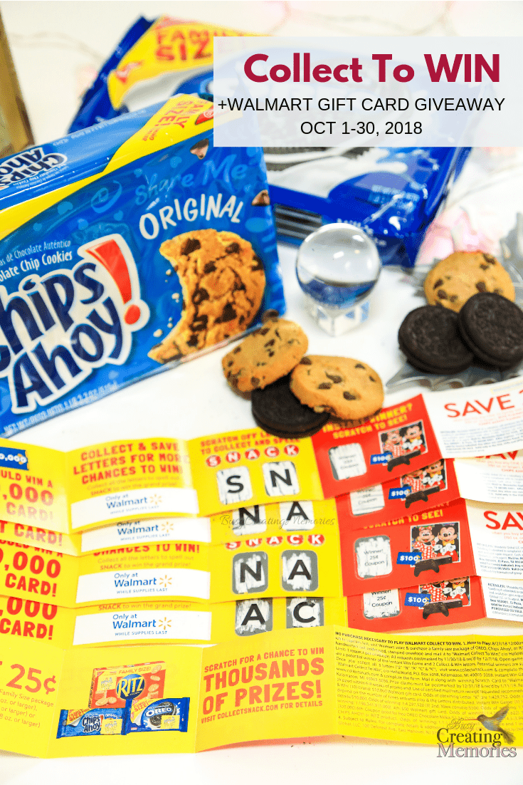 Grab Nabisco family size snacks with Collect to Win packaging & you could win up to $10,000! Enter to Win a $200 Walmart Gift Card Oct 1-30, 2018 #CollectToWin #IC
