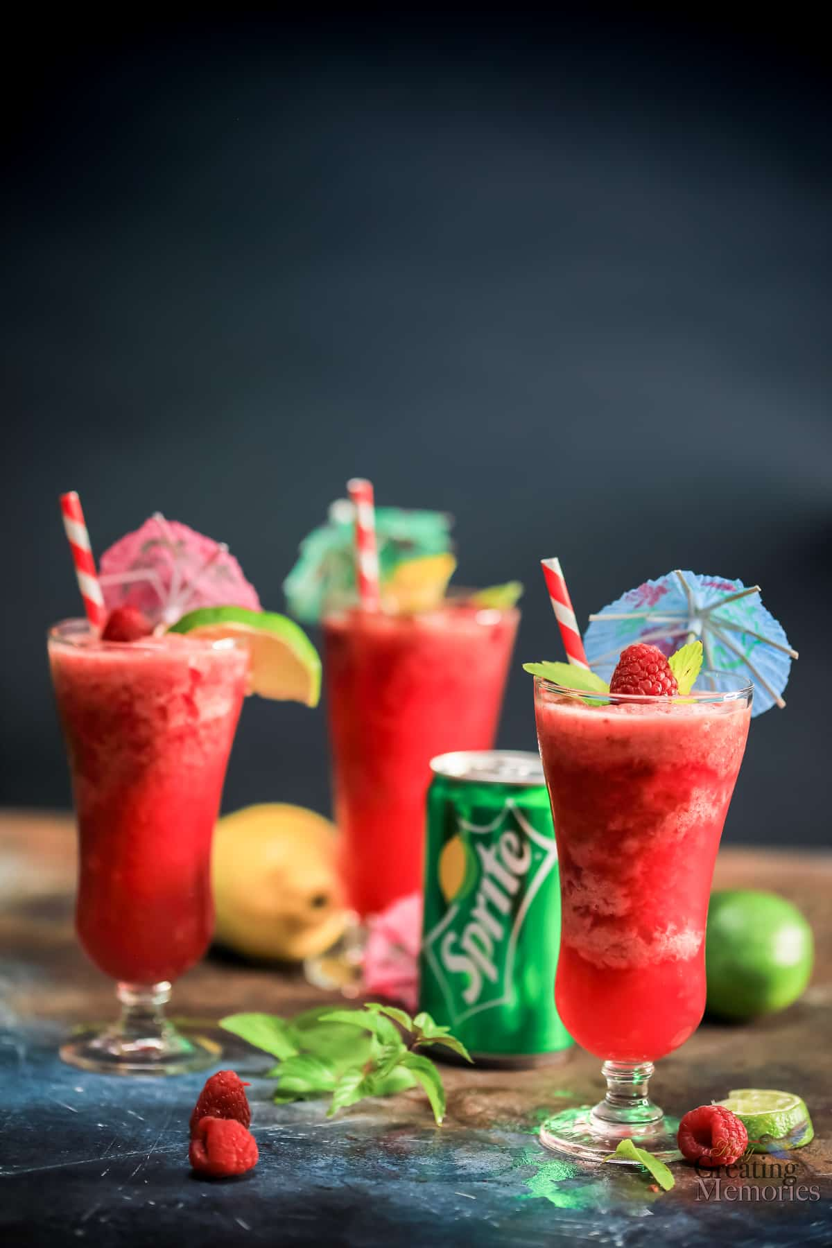 Tropical Raspberry Luscious Slush Punch Recipe for Holiday Parties