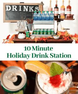 Easy DIY Holiday Drink Station Soda Bar Tablescape