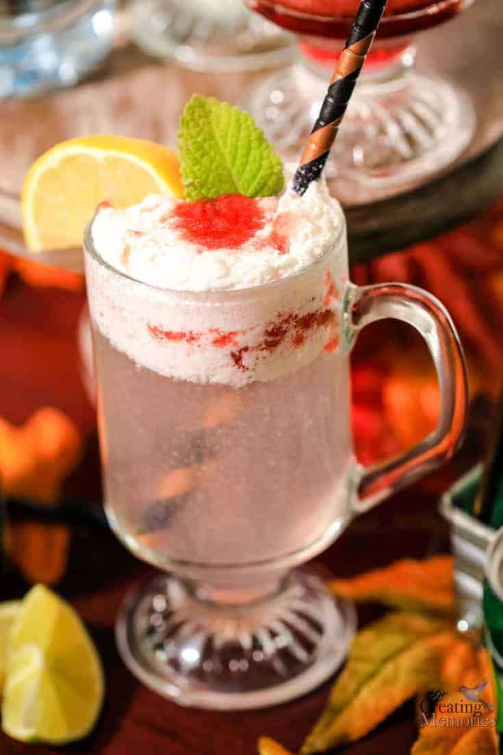 Make your mouth water with this refreshing Sparkling Strawberry Cream Italian Soda with fresh strawberry puree, cream, and SPRITE.