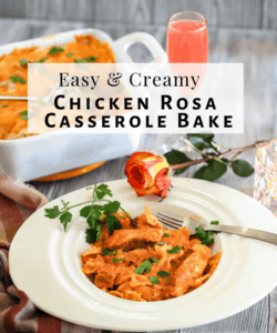Easy Chicken Casserole Recipe – Bacon Chicken Rosa Bake