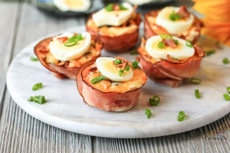 KETO Breakfast Cups faux Potatoes