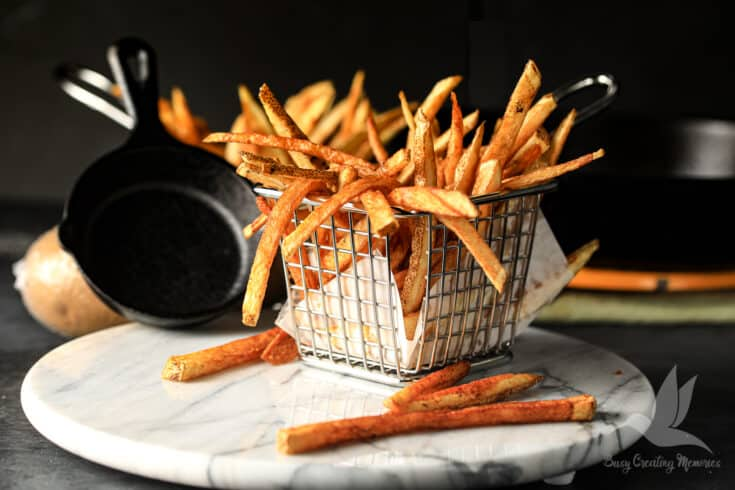 Best Homemade French Fries in Cast Iron Skillet