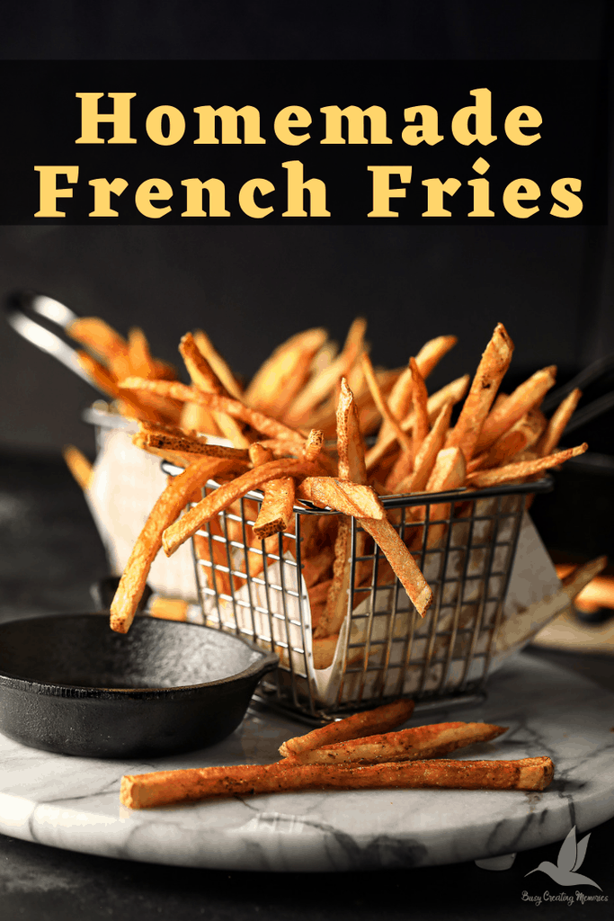 Learn the secrets of how to make the Perfect Russet French Fries Recipe with easy instructions and the best crispy fast results. All fried in a cast iron skillet directly on the stove with the perfect seasonings for any taste buds.